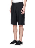 Technical wool cargo shorts