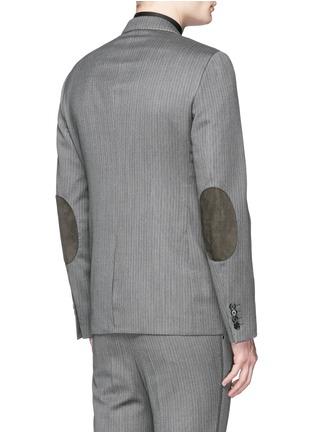 背面 - 点击放大 - LANVIN - 羊毛混羊绒细竖纹西服外套