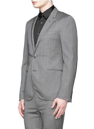 正面 -点击放大 - LANVIN - 羊毛混羊绒细竖纹西服外套