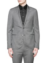 Woven stripe wool-cashmere blazer
