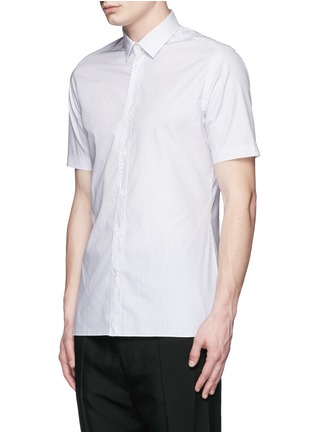 Front View - Click To Enlarge - Lanvin - Placket trim stripe poplin shirt
