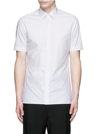 Main View - Click To Enlarge - Lanvin - Placket trim stripe poplin shirt