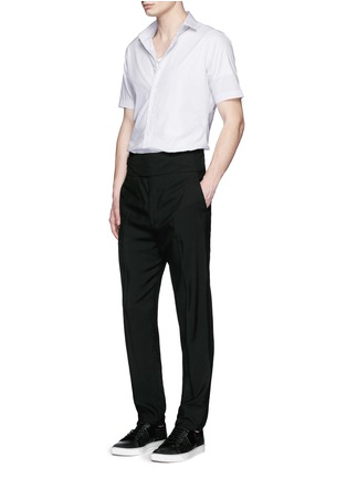 Figure View - Click To Enlarge - Lanvin - Placket trim stripe poplin shirt