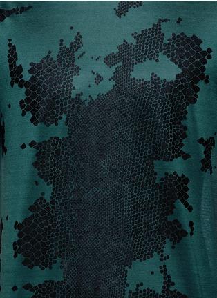 Lanvin-Snake print cotton T-shirt