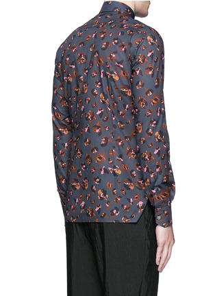 Back View - Click To Enlarge - Lanvin - Leopard print poplin shirt