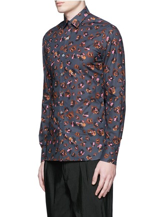 Front View - Click To Enlarge - Lanvin - Leopard print poplin shirt