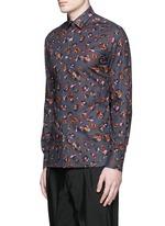 Leopard print poplin shirt