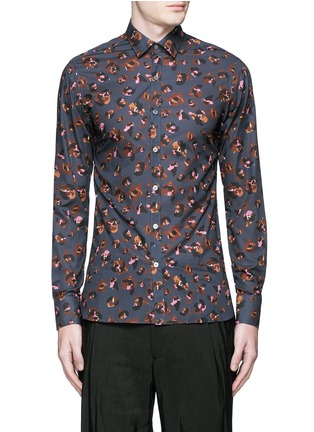 Main View - Click To Enlarge - Lanvin - Leopard print poplin shirt
