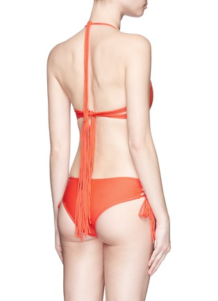 Back View - Click To Enlarge - Mikoh - 'Vanuatu' lace-up side boy short bikini bottoms