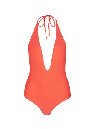 Main View - Click To Enlarge - Mikoh - 'Hinano' low cut scoop back halter swimsuit
