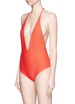 Figure View - Click To Enlarge - Mikoh - 'Hinano' low cut scoop back halter swimsuit