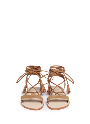 Front View - Click To Enlarge - Pedder Red - 'Felicity' nubuck leather lace-up sandals