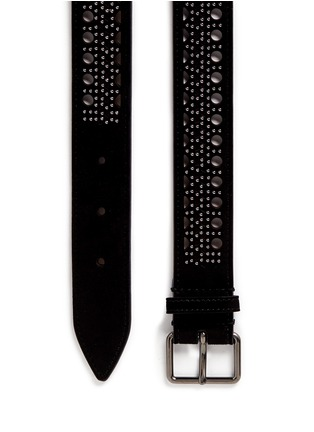 Detail View - Click To Enlarge - Alaïa - 'Mini Vienne' stud lasercut suede belt