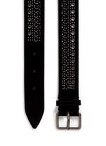 'Mini Vienne' stud lasercut suede belt