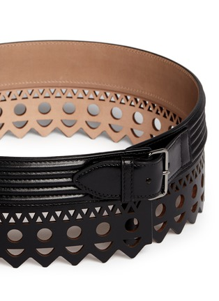 Alaïa - 'Vienne' lasercut leather belt