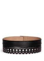 'Vienne' lasercut leather belt