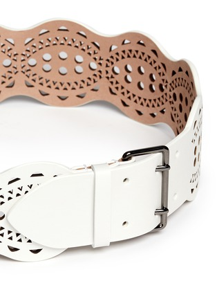 Alaïa - 'Vienne Vague' lasercut leather belt