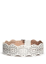 'Vienne Vague' lasercut leather belt