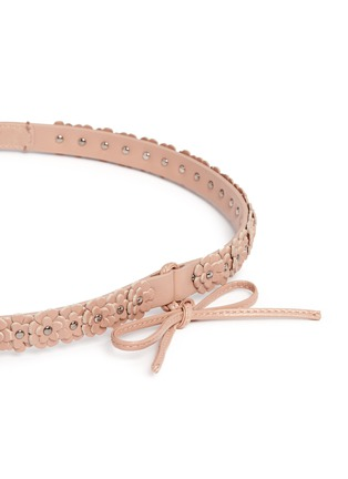 Detail View - Click To Enlarge - Alaïa - 'Mille Fleurs' floral appliqué leather belt