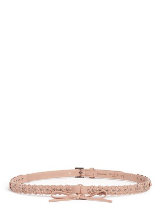 Main View - Click To Enlarge - Alaïa - 'Mille Fleurs' floral appliqué leather belt