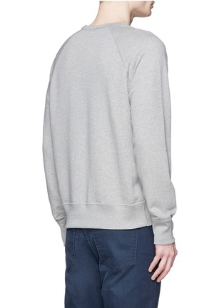 Back View - Click To Enlarge - Acne Studios - 'College L Face' cotton French terry sweatshirt