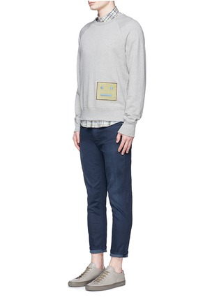 Figure View - Click To Enlarge - Acne Studios - 'College L Face' cotton French terry sweatshirt