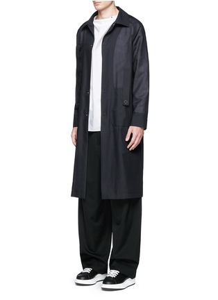 模特儿示范图 - 点击放大 - ACNE STUDIOS - 中式衣领棉混丝衬衫