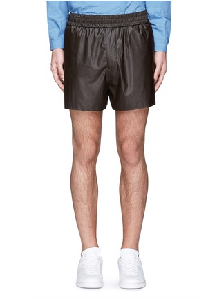 Main View - Click To Enlarge - Acne Studios - 'Phillip' coated fabric shorts