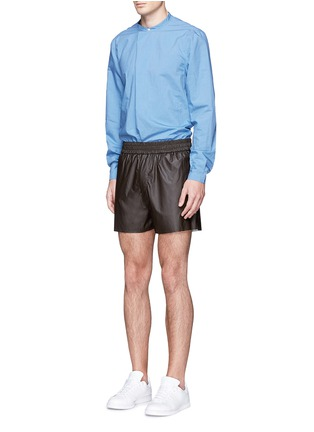 Figure View - Click To Enlarge - Acne Studios - 'Phillip' coated fabric shorts