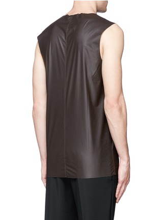 Back View - Click To Enlarge - Acne Studios - 'Steve' coated fabric tank top