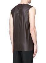 'Steve' coated fabric tank top