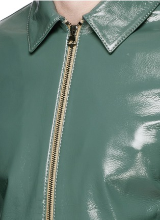 Detail View - Click To Enlarge - Acne Studios - 'Adrien' coated leather jacket