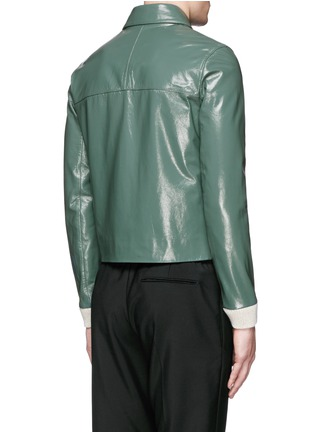 Back View - Click To Enlarge - Acne Studios - 'Adrien' coated leather jacket