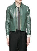 'Adrien' coated leather jacket