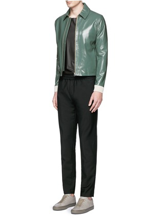 Figure View - Click To Enlarge - Acne Studios - 'Adrien' coated leather jacket