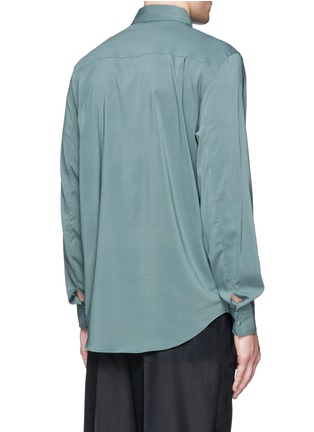 Back View - Click To Enlarge - Acne Studios - 'Stune' pleat front tech fabric shirt