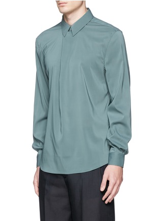 Front View - Click To Enlarge - Acne Studios - 'Stune' pleat front tech fabric shirt