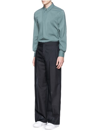 Figure View - Click To Enlarge - Acne Studios - 'Stune' pleat front tech fabric shirt