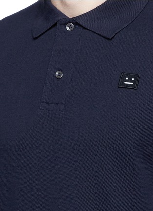 Detail View - Click To Enlarge - Acne Studios - 'Kolby' face patch polo shirt
