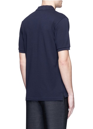 Back View - Click To Enlarge - Acne Studios - 'Kolby' face patch polo shirt