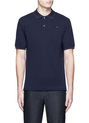 Main View - Click To Enlarge - Acne Studios - 'Kolby' face patch polo shirt