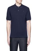 'Kolby' face patch polo shirt