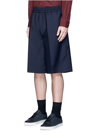 Front View - Click To Enlarge - Acne Studios - 'Ryder' wool-Mohair hopsack Bermuda shorts
