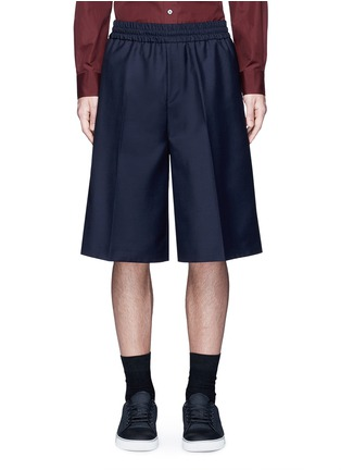 Main View - Click To Enlarge - Acne Studios - 'Ryder' wool-Mohair hopsack Bermuda shorts