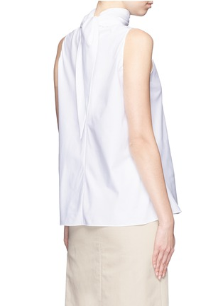 Back View - Click To Enlarge - The Row - 'Luna' tie neck cotton poplin sleeveless top