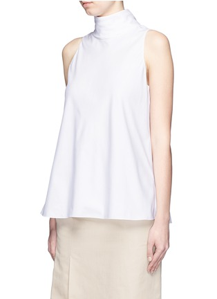 Front View - Click To Enlarge - The Row - 'Luna' tie neck cotton poplin sleeveless top