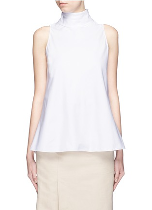 Main View - Click To Enlarge - The Row - 'Luna' tie neck cotton poplin sleeveless top