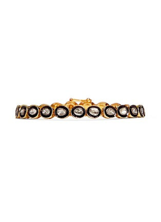 Main View - Click To Enlarge - Aishwarya - Mounted diamond gold alloy tennis bracelet