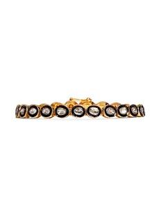 AISHWARYAMounted diamond gold alloy tennis bracelet