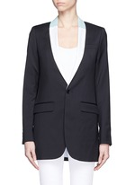EACH X OTHER Bi-colour lapel long tuxedo wool jacket